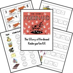The Story of Ferdinand Lapbook Printables; matches: The 20th Century Children's Book Treasury from the Sonlight Preschool Program