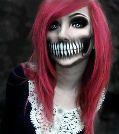 Visage Halloween, Halloween Make Up, Scary Halloween, Halloween Costumes, Halloween Face Makeup, Halloween Party, Halloween Outfits, Halloween Foto, Facepaint Halloween
