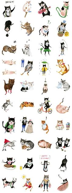 Cats may have the coldest faces but still express their innermost feelings better than most. Let Soupy& cats show you that true feelings come from the heart. Art And Illustration, Illustrations And Posters, Crazy Cat Lady, Crazy Cats, I Love Cats, Cute Cats, Photo Chat, Here Kitty Kitty, Cat Drawing
