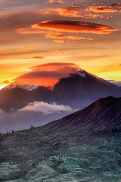 Batur Volcano, the most active volcano in Bali, Indonesia