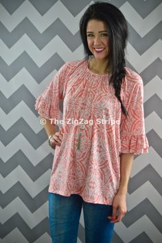 Petra Ruffle Sleeve Tunic. Use coupon code ZZS72 to save 10%, and shipping is free! zigzagstripe.com