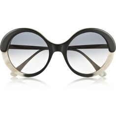 Marni Round-frame acetate sunglasses found on Polyvore