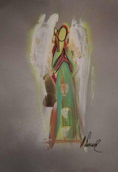 """Schutzengel"" Bilder; 21x29 cm gross handsigniert, jedes Bild ein Unikat Painting, Art, Guardian Angel Pictures, Art Background, Painting Art, Kunst, Paintings, Performing Arts, Painted Canvas"