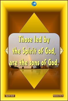 http://stministry.com/spirit-led/ Learn to #live #life led by the #Holy #Spirit in all things. Sin has no more power…  Scripture of the day: Romans 8:13-14 If you use your lives to do the wrong things your sinful selves want, then you will die spiritually. But if you use the Spirit's help to stop doing the wrong things you do with your body, then you will have true life. (ICB)  14 For all of those who are led by the Spirit of God are the children of God. (AUV)