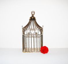 Vintage Bird Cage Hollywood Regency with by CheekyVintageCloset, $28.00