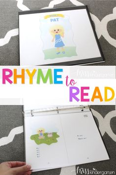 Use these rhyme to read books in your guided reading or small groups in kindergarten. They are easily printable and assembly is a sinch. Students can practice their reading strategies using the cute books that make organization in your classroom simple!