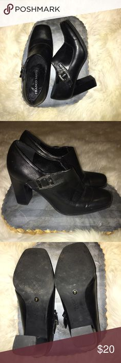 Franco Sarto Booties Franco Sarto booties! Buckle detail on the side, gently worn. Size 7. Franco Sarto Shoes Ankle Boots & Booties