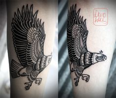 Bald eagle tattoo by David hale  ᑭIᑎTEᖇEᔕT:@kategilmore7 ♡☼ ☪