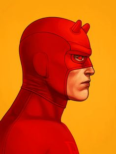Daredevil (Matthew Michael Murdock) Red Costume in #7, Mike Mitchell © 2014.