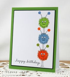 DeNami Friendly Birthday Friends card by Deanna
