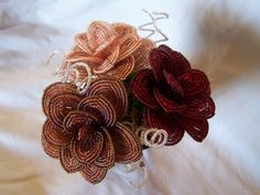 https://flic.kr/p/7drB6w | French Beaded Roses and Curly Twigs