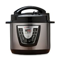 Power Pressure Cooker XL Flavor Infusion Technology 6-Quart, Black