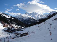 Meribel-Mottaret in the French Alps. Mont Vallon.