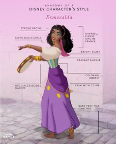 There's plenty to love about the oh-so-fashionable Esmeralda. We're taking a closer look at the anatomy of her signature style.
