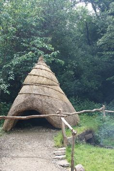 Smoking house for preserving meat, traditional: Irish National Heritage Park, #Wexford #Ireland
