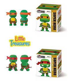 Ninja Turtle Set of 2 Clay modeling and sculpting DIY play-sets create a cartoon super-hero characters with molding play-dough kit - a fun arts and craft children toy project clean safe - Non-toxic >>> Want to know more, click on the image.