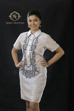 Modern FILIPINIANA Dress Silk BARONG