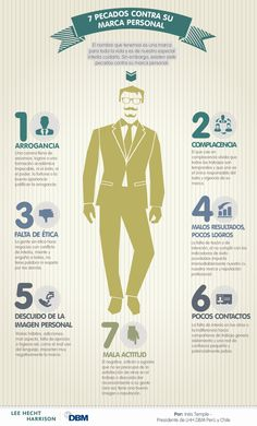 7 pecados de la Marca Personal #infografia #infographic #marketing
