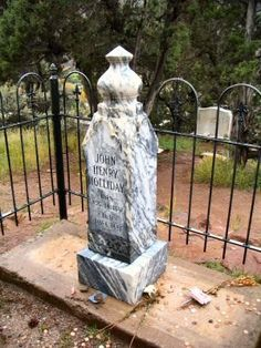 A gunfighter and professional gambler, he is remembered for his friendship with Wyatt Earp Native American Art, American History, Tombstone Arizona, Wyatt Earp, Church Pictures, Real Cowboys, Into The West, Famous Graves, Cemetery Art