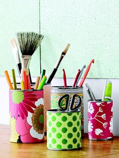 3 simple ways to organize your messy craft project area. #getorganized