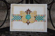 Sample Card #2 - another beautiful card for my Cricut Card Tricks class :)