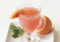 Blood Orange Champagne Cocktail - Baby shower appropriate? I hope so - it's got Vitamin C from the citrus.