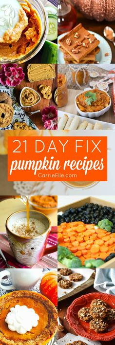 21 Day Fix Pumpkin Recipes - SO MANY recipes, and they all have container counts!