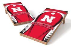 Nebraska Cornhuskers Cornhole Board Set - Drop (w/Bluetooth Speakers)