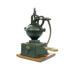 Antique French PEUGEOT FRERES BREVETES # A2 Cast Iron Coffee mill Grinder 1900's
