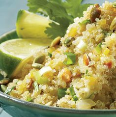 Make Quinoa with Latin Flavors into a vegetarian or vegan recipe by using water or vegetable broth.
