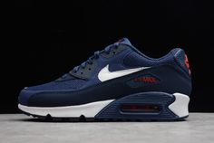 the latest 7d05c ea96c Nike Air Max 90 Essential Midnight Navy University Red-White AJ1285-403