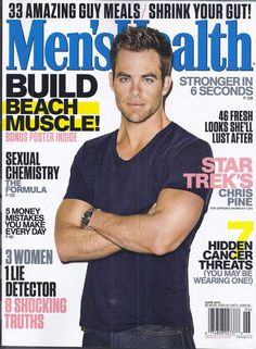 02b009edde3 Mens Health magazine Chris Pine Build beach muscle 33 meals Sexual chemistry