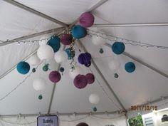 Purple and Teal Wedding :  wedding ceremony invitations reception Lanterns