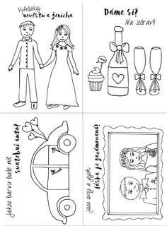 Wedding Coloring Pages, Comics, Program, Stamps, Valentines Day Weddings, Weddings, Seals, Cartoons, Postage Stamps