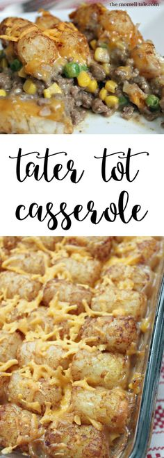Tater tot casserole is absolutely delicious and easy to make when you are craving some crispy tots! Tater Tot Casserole http://themorrelltale.com/tator-tot/