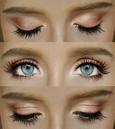 Light brown makeup