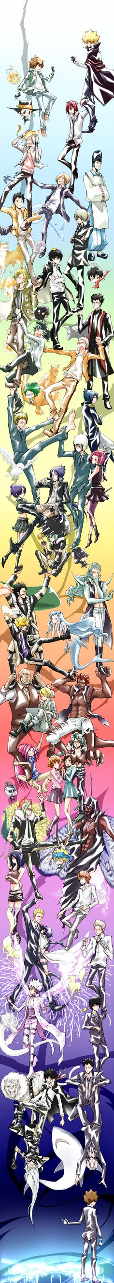 Katekyo Hitman Reborn (KHR) ~ Vongola: Primo vs. Decimo Bosses with their Guardians