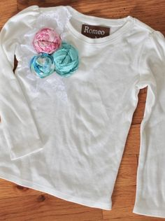 Girls Shabby Chic Long Sleeved Shirt Size 5t