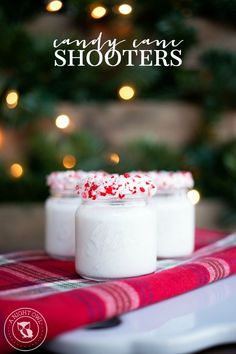 Candy Cane Shooters | can be made with or without alcohol!