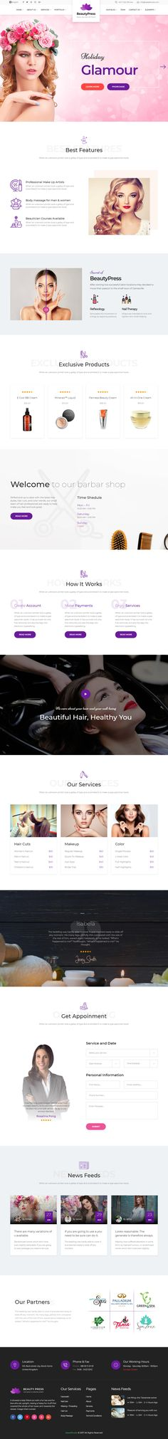BeautyPress is Premium full Responsive Retina HTML5 Template. Bootstrap 4 Framework. Parallax Scrolling. #WorkingAppointmentBookingForm. If you like this #BeautySalon Template visit our handpicked list of best HTML Beauty and #SpaTemplates at: http://www.responsivemiracle.com/best-html-spa-and-beauty-templates/