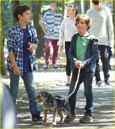 Jacob Tremblay, Noah Jupe, and Gidget in Wonder Owen Wilson, E 3, Famous Last Words, Series Movies, Favorite Person, My Children, Hunger Games, Cute Boys, Cute Puppies