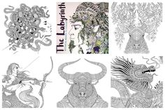 To help while away time at the airport or to soothe your mind as you relax by the pool, why not take a trip back in time to ancient Greece or Rome with the spectacular 'Labyrinth - Mythical Beasts to Colour' from LomArt and illustrated by the skilled 'old master' of the adult colouring book world - Richard Merritt! with magical detail on every page! #mythical #beasts #myths #legends #greek #roman #art #illustration #colouringbook #adultcolouring #relaxation #richardmerritt