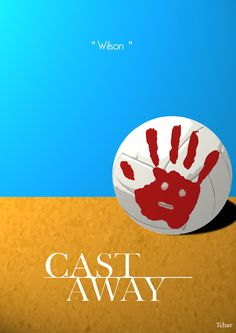 I love cast away movie. I think this poster i one of the basic one but still good. This volleyball is part of the movie. Front text is very good and standout. If i could create this differently i will ad more details and change sand shape.