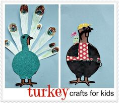 """Neat way for kids to share in the fun and spirit of Thanksgiving, hiding/disguising """"Tom the Turkey""""... #TBCCrafters"""