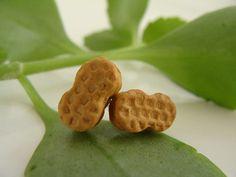 Nutter Butter Cookie Ear Studs   Miniature Food Polymer by TheMenu, $13.00