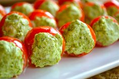 Pesto and Cream Cheese Stuffed Cherry Tomatoes - Mother Thyme
