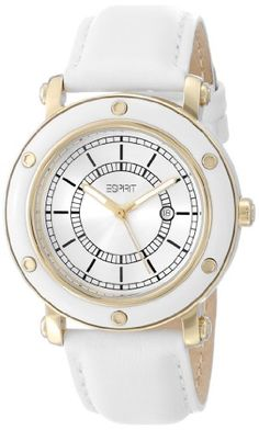7c738b1165e Women s Wrist Watches - ESPRIT Womens ES104042005 Deco Gold White Classic  Fashion Analog Wrist Watch
