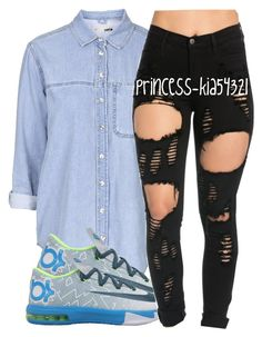 """""""*"""" by princess-kia54321 ❤ liked on Polyvore featuring Topshop and NIKE"""