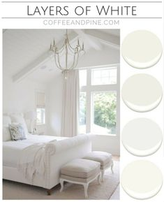 Bedroom Colour Scheme Part 3 : Layers of White – Coffee and Pine