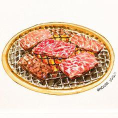 Cute Food, Yummy Food, Food Sketch, Watercolor Food, Food Painting, Food Wallpaper, Warm Food, Food Drawing, Food Illustrations